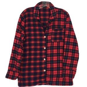 J. Crew Plaid Button Down Shirt Pijama small